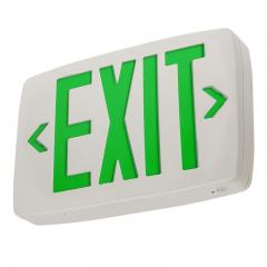 Green LED Exit Sign w/ Battery Backup - Single or Double Face