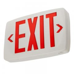 Red LED Exit Sign w/ Battery Backup - Single or Double Face