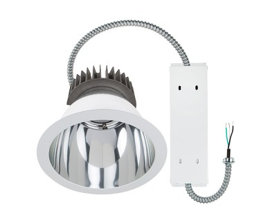 Commercial led downlight retrofit for 10 cans recessed light w 10 architectural retrofit led downlight 290 watt equivalent 2900 lumens aloadofball Image collections
