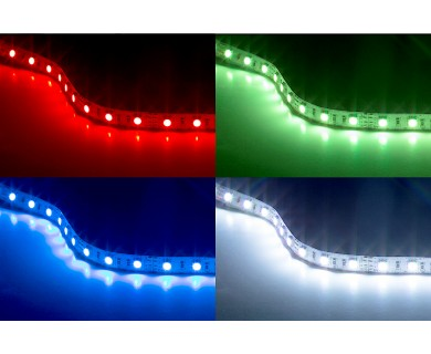 Rgb led strip lights 12v led tape light w lc4 connector 244 rgb led strip lights 12v led tape light w lc4 connector 244 lumens mozeypictures Images