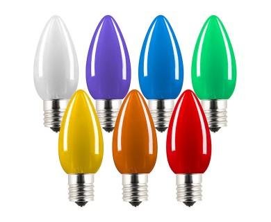 c9 led bulbs ceramic style replacement christmas light bulbs 6 lumens