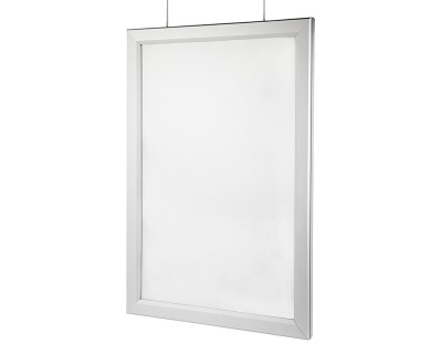 Double-Sided LED Light Box w/ Snap-Open Frame - Hanging LED Window ...