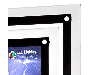 Ultra-Thin LED Light Box w/ Stand-Off Acrylic Frame and Custom ...