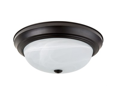 15 flush mount led ceiling light w oil rubbed bronze housing led ceiling flush mount 15 120v dimmable 23w orb housing acrylic lens mozeypictures Gallery