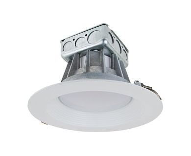8 recessed led downlight w built in junction box and baffle trim replacement led downlights for 8 fixtures 190 watt equivalent led can light replacement aloadofball Image collections