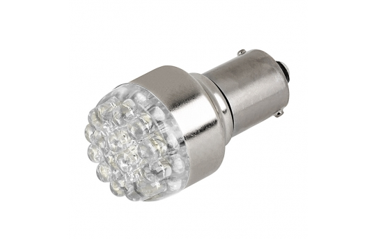 1156 LED Boat and RV Light Bulb - 19 LED Forward Firing Cluster - 6 VDC - 125 Lumens - 1156-x19-xV-RVB