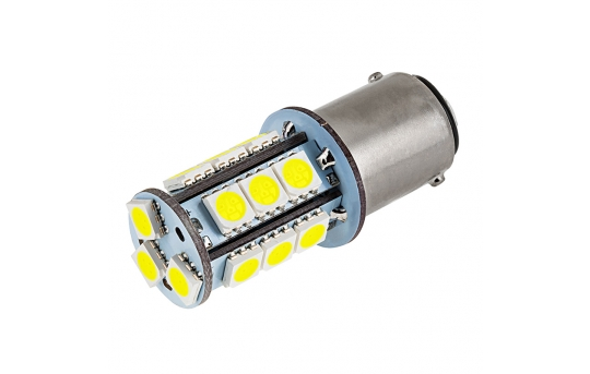 1142 LED Boat and RV Light Bulb - 18 SMD LED Tower - BA15D Retrofit - 300 Lumens - 1142-x18-T-RVB