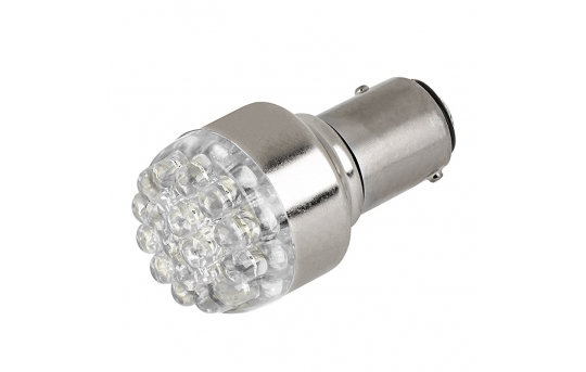1157 LED Boat and RV Light Bulb - Dual Function 19 LED Forward Firing Cluster - BAY15D Retrofit - 60 Lumens - 1157-x19-RVB