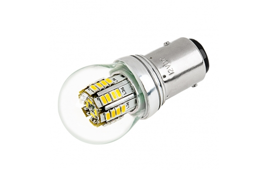 1157 LED Boat and RV Light Bulb w/ Stock Cover - Dual Function 36 SMD LED Tower - BAY15D Retrofit - 270 Lumens - 1157-x3W-G-RVB