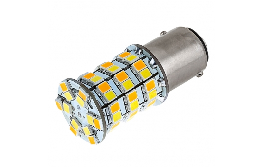 1157 Switchback LED Bulb - Dual Function 60 SMD LED Tower - A Type - BAY15D Bulb - 1157-AW60-SA-CAR
