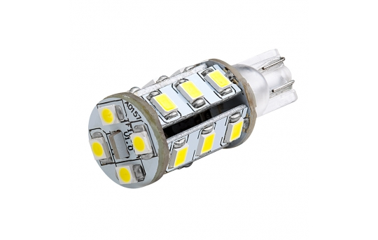 921 LED Boat and RV Light Bulb - 19 SMD LED - Miniature Wedge Retrofit - 260 Lumens - 921-x19-T-RVB
