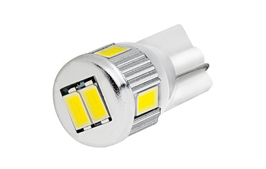 194 LED Bulb - 6 SMD LED Tower - Miniature Wedge Base - 194-WHP6-CAR