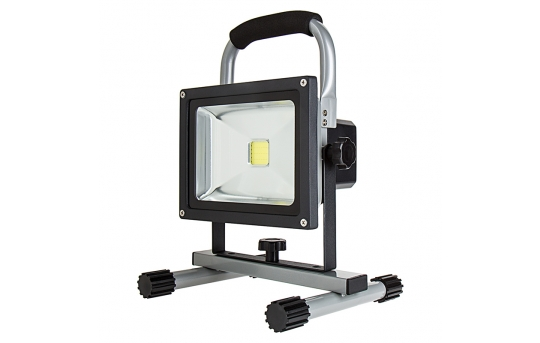 20W Portable Rechargeable LED Work Light - Dimmable - 7000K - 1,400 Lumens - FBD-CW120-20W