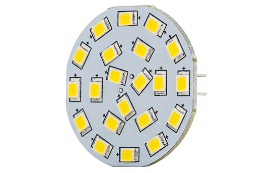 G4 LED Boat and RV Light Bulb - 40 Watt Equivalent - Bi-Pin LED Disc - 320 Lumens - G4B-xHP21-DAC-RVB