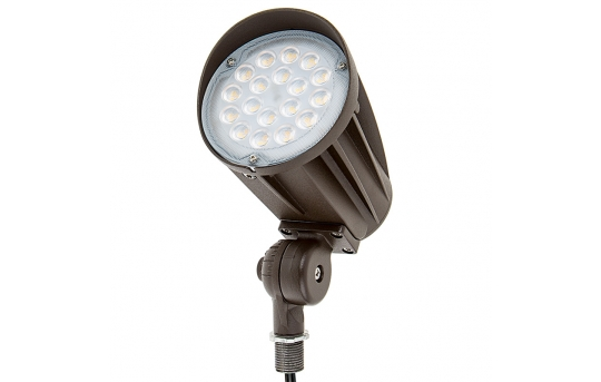 30 Watt Knuckle-Mount LED Spotlight - Bullet Style - 50 Watt MH Equivalent - 2,900 Lumens - SLKM-x30-60-12V