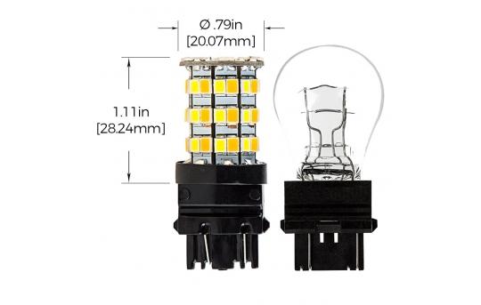3157 Switchback LED Bulb - Dual Function 60 SMD LED Tower - A Type - Wedge Base - 3157-AW60-SA-CAR