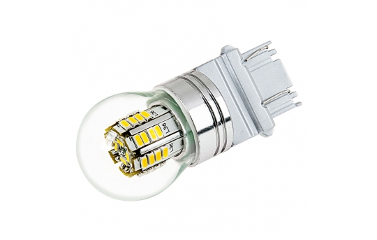 3157 LED Bulb w/ Stock Cover - Dual Function 36 SMD LED Tower - Wedge Retrofit - 3157-x3W-G-RVB