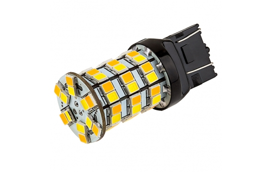 7443 Switchback LED Bulb - Dual Function 60 SMD LED Tower - A Type - Wedge Base - 7443-AW60-SA-CAR