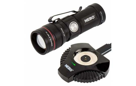 Rechargeable LED Flashlight with Charging Dock - NEBO REDLINE RC - 320 Lumens - #6392