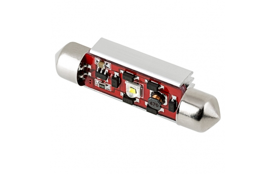 6451 LED CAN Bus Bulb - 1 SMD LED Festoon - 42mm - 4210-W1-CB