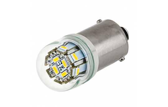 67 LED Boat and RV Light Bulb - 12 LED Tower - BA15S Retrofit - 125 Lumens - 67-x12-RVB