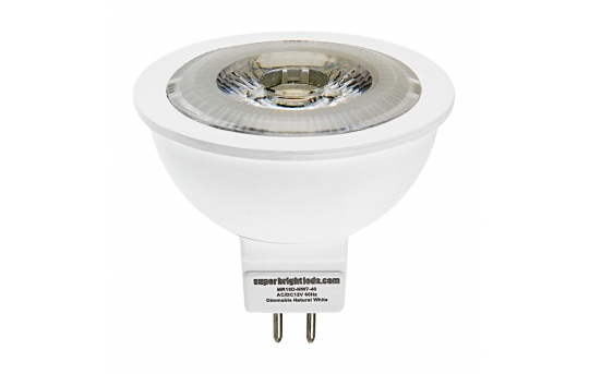 MR16 LED Bulb - 60 Watt Equivalent - 12V AC/DC - Bi-Pin LED Spotlight Bulb - 685 Lumens - MR16D-x7-40-HH