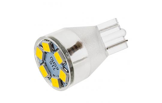 921 LED Bulb - 6 LED Forward Firing Miniature Wedge Base - 921-xHP6-CAR