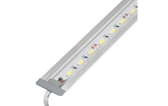 Linear LED Light Bar Fixture w/ DC Barrel Connectors - Flush Mount - 1,440 Lumens - ALB-xW1M-FM