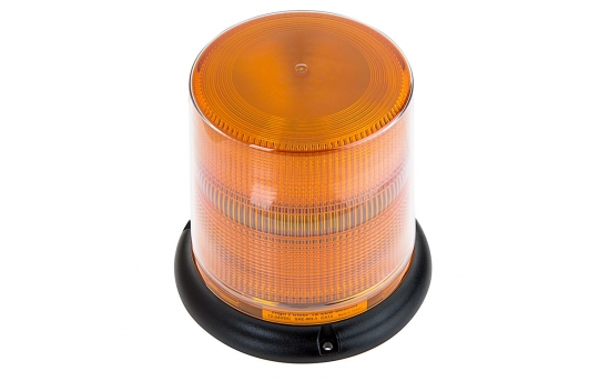 "SAE Class 1 LED Strobe Beacon - 6-1/4"" Amber LED Multi Mode Strobe Light Beacon - STBM-1A66"