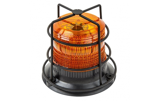 """4-3/4"""" Amber LED Strobe Light Caged Beacon with 60 LEDs - STBC-A45"""