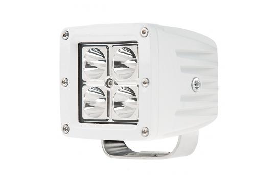 "LED Boat Light - 3"" Square Spot or Spreader Light - 13W - 678 Lumens - AUX-12W-SxW"