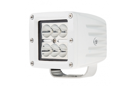 "LED Boat Light - 3"" Square Spot or Spreader Light - 18W - 1,440 Lumens - AUX-18W-SxW"