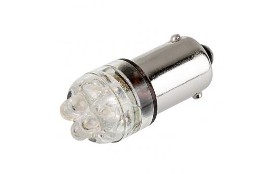 BA9s LED Boat and RV Light Bulb - 4 LED - BA9s Retrofit - BA9s-x4-x-xVAC-RVB