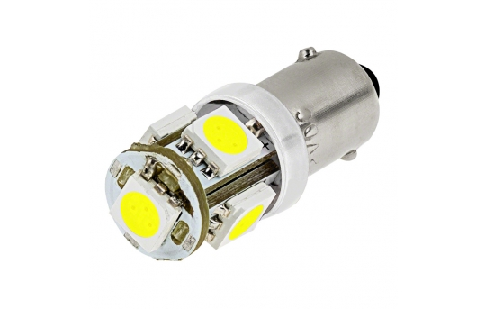 BA9s LED Bulb - 5 SMD LED Tower - BA9s Bulb - BA9s-xHP5-CAR