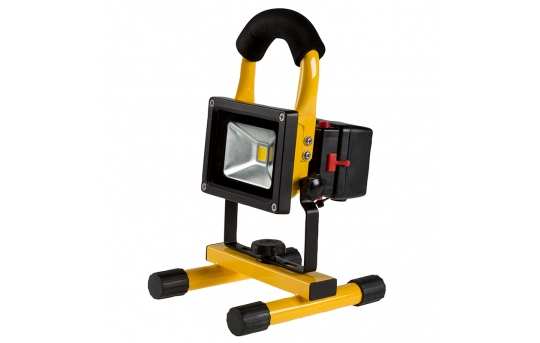 10W Portable Rechargeable LED Work Light w/ USB Charger/Power Bank and Removable Battery - Dimmable - 4000K - 570 Lumens - BWLD-10W