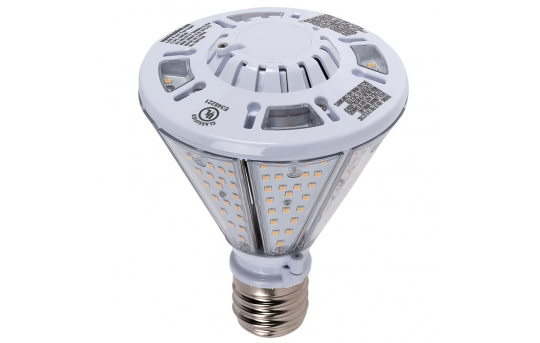 40W LED Post Top / Corn Bulb - 4800 Lumens - 150W Equivalent Metal Halide - E39 Mogul Base - Ballast Bypass - 5000K/4000K - CLPC-x40