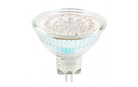 Color-Changing MR16 LED Landscape Light Bulb - 30 LED Spotlight Bi-Pin Bulb - MR16-RGB-LAN