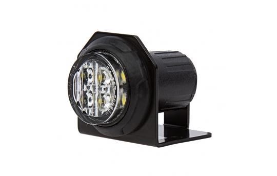 LED Hideaway Strobe Lights - Mini Emergency Vehicle LED Warning Lights w/ Built-In Controller - Surface or Flush Mount - DMSTRB-x6