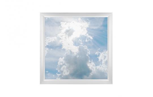 LED Skylight w/ Sun Beams Skylens® - 2x2 Dimmable LED Panel Light - Flush Mount/Drop Ceiling - EGD-C1-x22