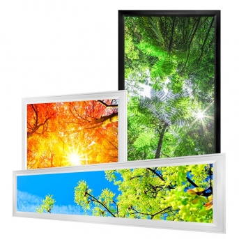 Ultra-Thin LED Light Box Panels w/ Custom-Printed Luxart® Diffuser - Dimmable - EGD-CP-x-AL