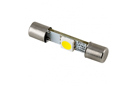 6612F LED Bulb - 1 SMD LED Vehicle Vanity Fuse Lamp - 30mm - F30-WHP-xV