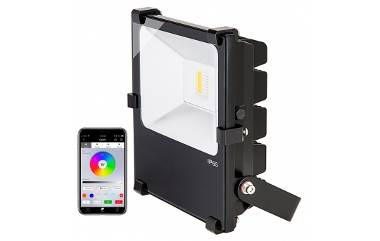 50W Color-Changing Wi-Fi LED Flood Light - RGB+White - Smartphone Compatible or w/ Optional Remote - FL-RGBx50-x