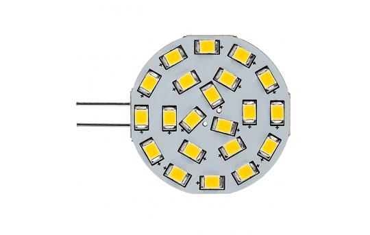 G4 LED Bulb - 3 Watt - 40 Watt Equivalent - 12V AC/DC - Bi-Pin LED Disc - 350 Lumens - G4-xWHP21-DAC-HH