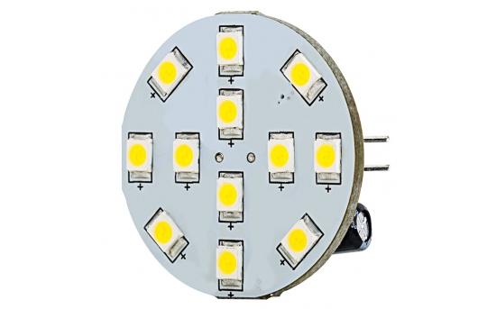 G4 LED Bulb - 2 Watt (25 Watt Equivalent) - 12V AC/DC - Bi-Pin LED Disc - White - 220 Lumens - G4B-xWHP12-DAC-HH