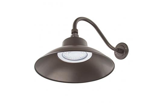 LED Gooseneck Barn Light - 42W - 4000K/3000K - 100W MH Equivalent - 3,700 Lumens - GBL-x42-BR