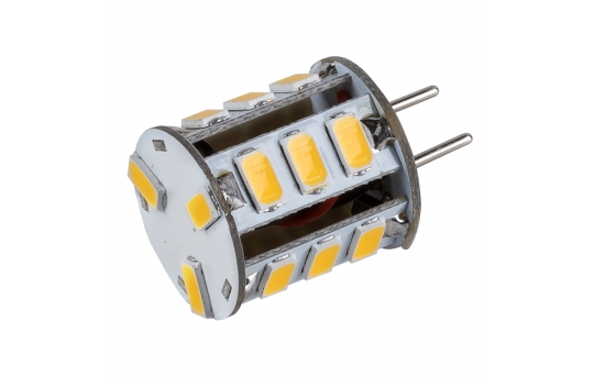 GY6.35 LED Boat and RV Light Bulb - 40 Watt Equivalent - Bi-Pin LED Bulb - 350 Lumens - GY6.35-WW18-DAC-RVB