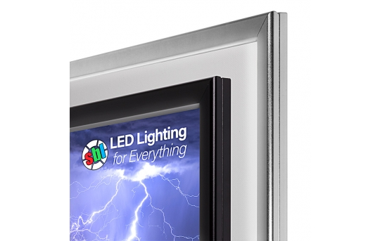 Ultra-Thin LED Light Box w/ Snap-Open Frame and Custom-Printed Luxart® Graphic - 12V Dimmable - LBS-x-x