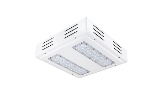 LED Canopy Lights - 100W - 4000K - Flush/Surface Mount - Rectangular LED Beam Pattern - 250W MH Equivalent - 10,000 Lumens - FLD-CNL-60005-100W