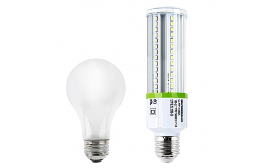 12W LED Corn Bulb - 1,380 Lumens - 100W Incandescent Equivalent - E26/E27 Medium Screw Base - 4000K/3000K - CL-x12