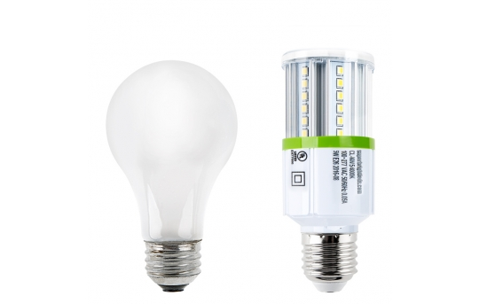 5W LED Corn Bulb - 500 Lumens - 40W Incandescent Equivalent - E26/E27 Medium Screw Base - 4000K/3000K - CL-x5